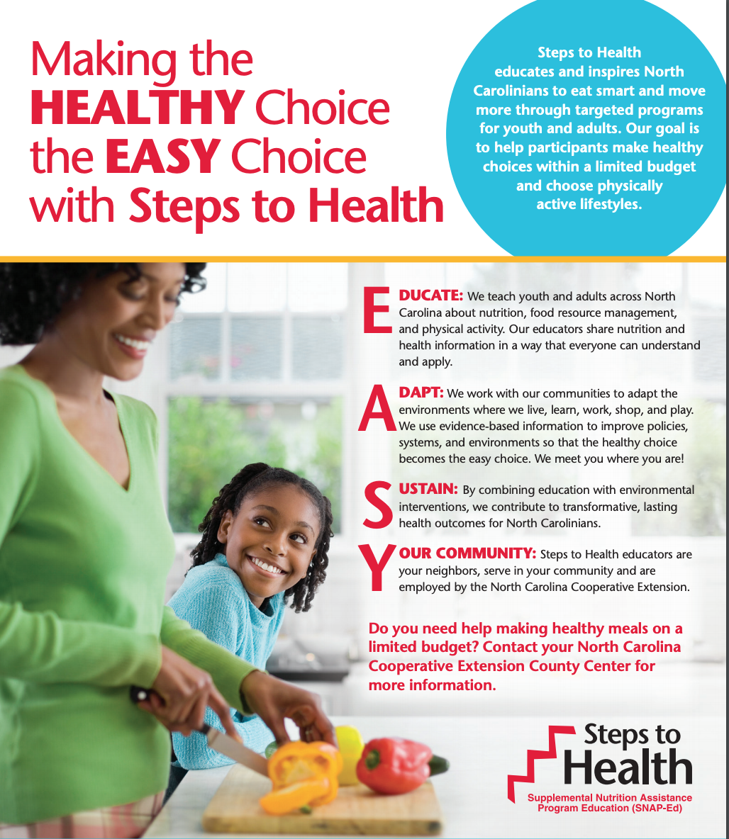NC Steps to Health flyer